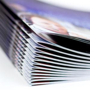 Piqure métallique pour brochure, livret, magazine et catalogue